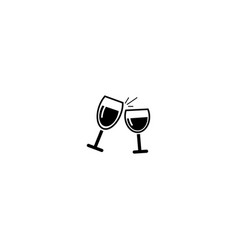 drink logo two glass design template vector image