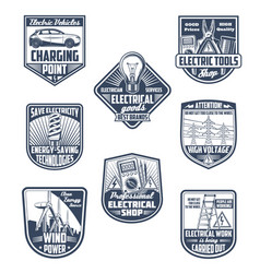 Electricity power save and ecology icons vector