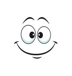 emoticon in good mood isolated happy smiley emoji vector image