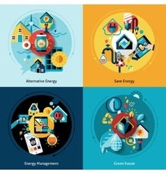 Energy Efficiency Set vector