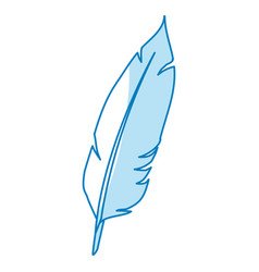 Feather ink isolated vector