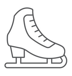 figure skating thin line icon activity and sport vector image