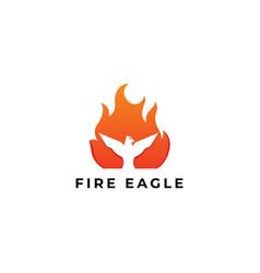 Fire eagle logo design - modern abstract logo vector