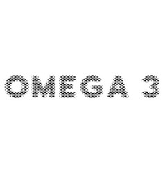 Fish omega 3 text collage vector