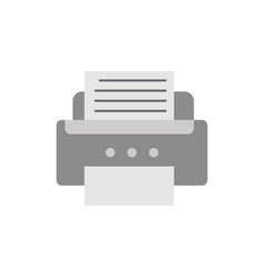Flat printer icon isolated vector