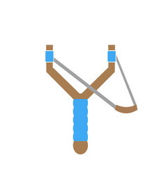 Forked slingshot icon vector