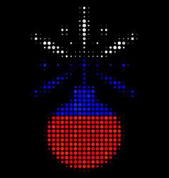 Halftone russian fireworks detonator icon vector