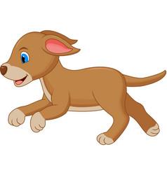happy dog cartoon running vector image