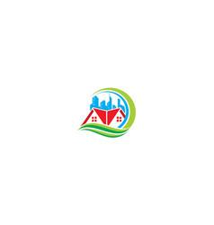 home garden greening icon logo vector image
