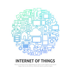 internet things circle concept vector image
