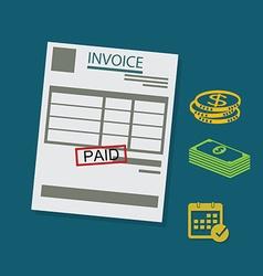 invoice vector image
