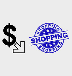 line export dollar icon and distress vector image