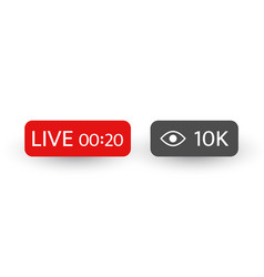 Live stream video background with 10k views live vector