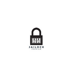 Lock padlock jail or prison logo icon design vector