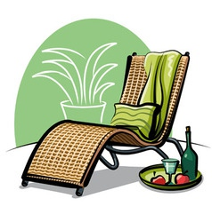 lounge chair vector image vector image
