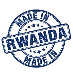 Made in rwanda blue grunge round stamp vector