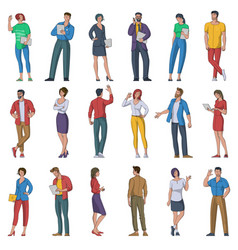 male and female character set vector image