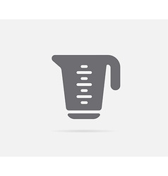 Measure measuring cup element or icon ready vector