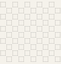 minimalistic square pattern vector image