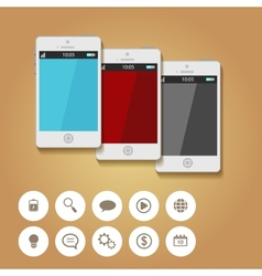 Mobile App Flat Interface Easy-edit vector image
