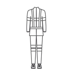 Monochrome silhouette of male uniform of vector