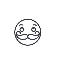 moustache emoji concept line editable vector image