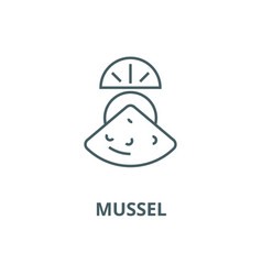 mussel line icon linear concept outline vector image