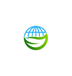 nature globe logo icon design vector image