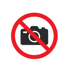no photography sign image vector image