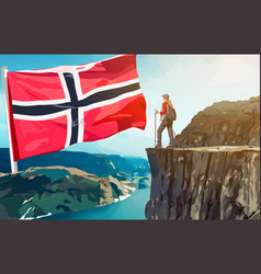 norway travel vector image