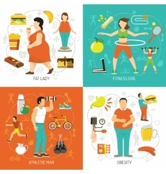 Obesity And Health Concept vector