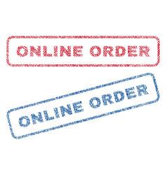 online order textile stamps vector image