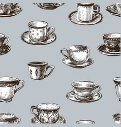 Pattern of the teacups vector