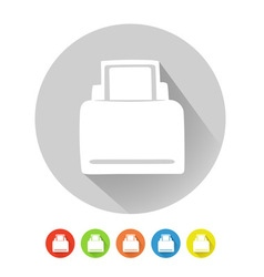 Printer symbol vector image