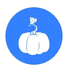 Pumpkin icon black Single plant icon from the big vector