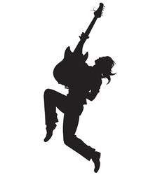 rock star Silhouette vector image