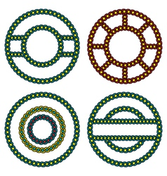 round ornaments vector image