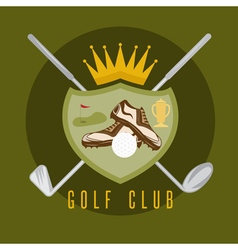 royal golf club coat of arms design template vector image