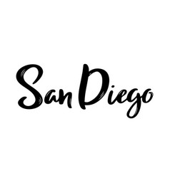 san diego - hand drawn lettering vector image