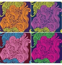 Seamless pattern beautiful decorative curls vector image