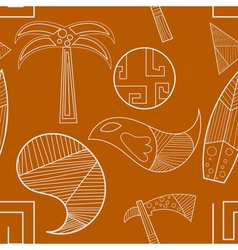 Seamless texture with elements of ancient art vector