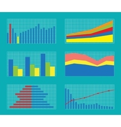 Set of Graphs and Charts Data Statistic vector image