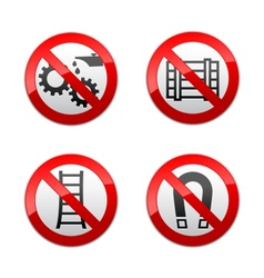 Set prohibited signs - technical symbols vector