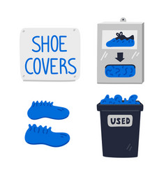 Shoe covers shoe covers station wall sign vector