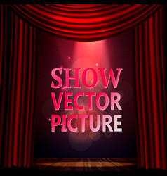 sign for theater a scene and a falling vector image