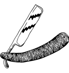 simple black and white razor vector image