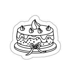 sweet cake icon vector image