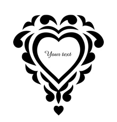 Tattoo pattern heart ornament vector image