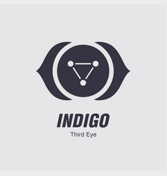 Third eye symbol vector