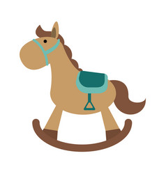 toy wooden horse vector image